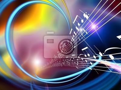 Naklejka Dynamiczne Streszczenie Muzyka