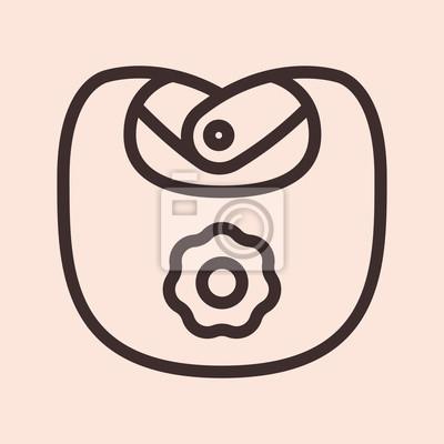 Dziecko śliniaczek minimalistyczny płaski linia koło stały symbol ikony piktogram
