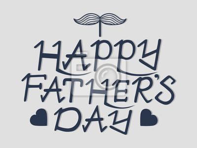 Dzień ręcznie kaligrafii napis ręka szczęśliwy ojca na szarym b