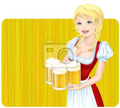 Dziewczyna Oktoberfest