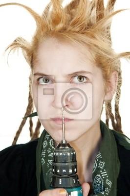 Dziewczyna z drążenia w nosie