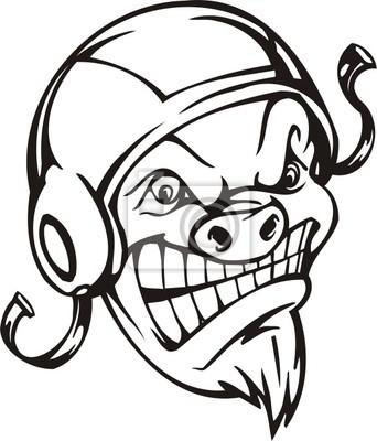 Dzikie Szablony boar.Mascot.