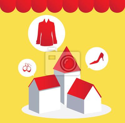 e-commerce shoping ilustracji Internecie