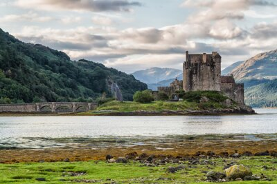 Naklejka Eilean Donan Castle, Loch Duid, Highlands, Scotland, United Kingdom