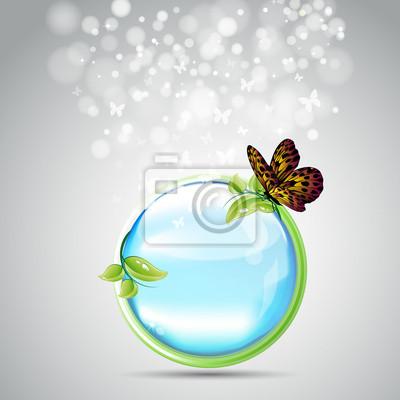 Naklejka Ekologia Butterfly