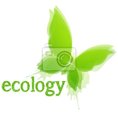 Naklejka Ekologia Concept. Motyl