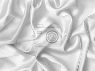 Naklejka Eleganckie fałdy białego jedwabiu.