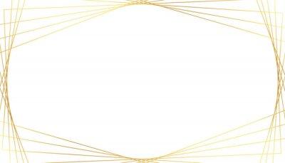 elegant golden geometric lines on white background