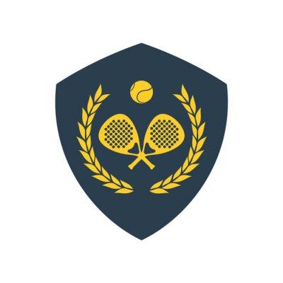 Naklejka elegant padel sport emblem