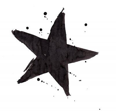 Naklejka element projektu. Vintage grunge retro gwiazdą.