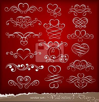 Elementy dekoracyjne na Walentynki