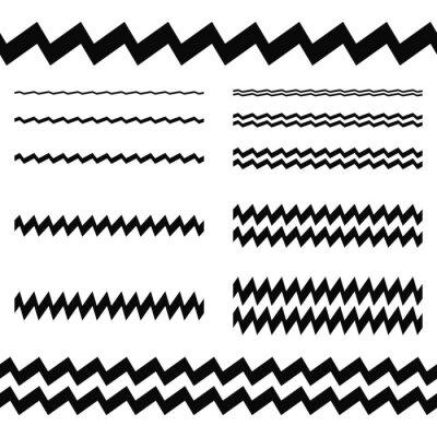 Naklejka Elementy graficzne - Asymetryczny zestaw przewodów