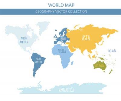Naklejka Elementy mapy świata. Stwórz własną kolekcję graficzną z informacjami geograficznymi