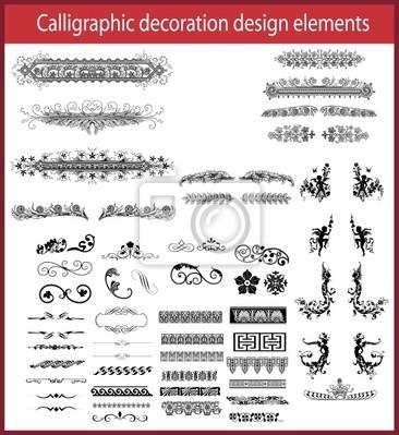 Elementy projektu kaligraficzne dekoracji