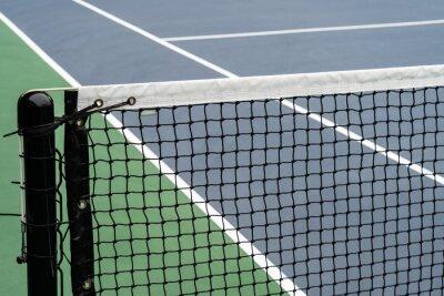Naklejka Empty blue tennis court