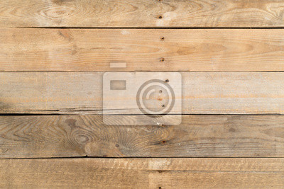 Empty brown rustic wooden plank table flat lay top view from above