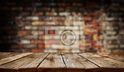 Naklejka Empty old wooden table background