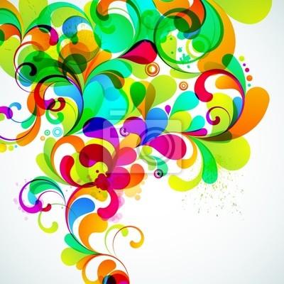 EPS10. Kolorowe tło z miejsca dla wiadomości