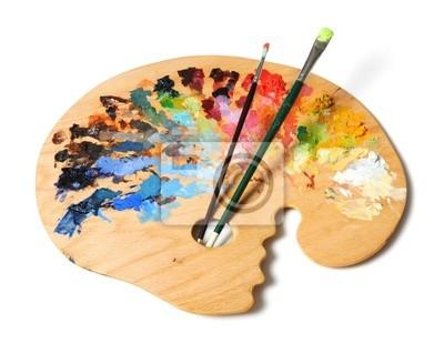 Ergonomiczne artysty palety ze szczotkami