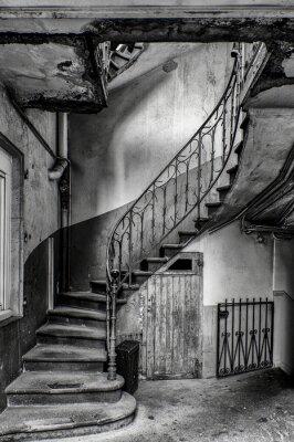 Naklejka escalier vétuste