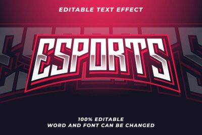 Naklejka Esport text style effect Premium Vector