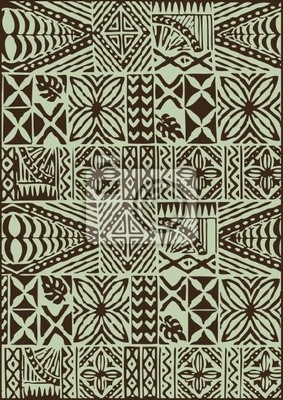 Ethnic Batik Seamless Wzór Tkanina