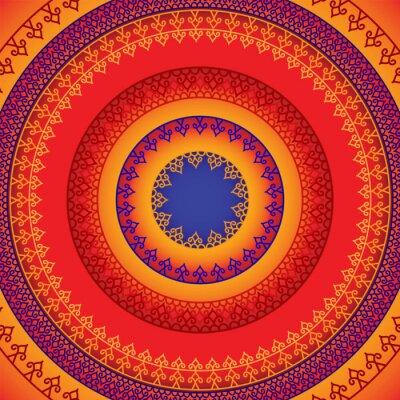 Naklejka Ethnic & Colorful Henna Mandala design, very elaborate and easily editable
