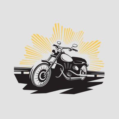 Naklejka Etykieta Motocykl