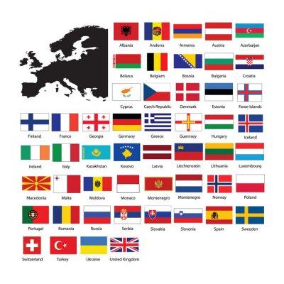 Naklejka Europe flags