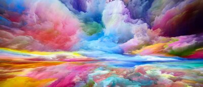 Naklejka Evolving Land and Sky