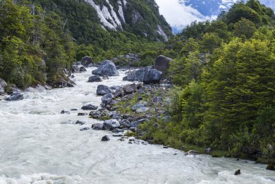 Naklejka Exploradores rzeka, Chile