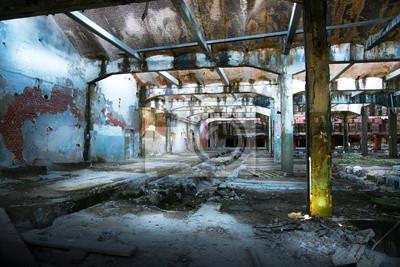 Naklejka fabbrica w stato di abbandono