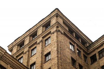 facade of an old university building in Kharkiv, Ukraine