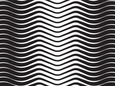 Naklejka fala optyczna abstrakcyjne paski czarnym tle