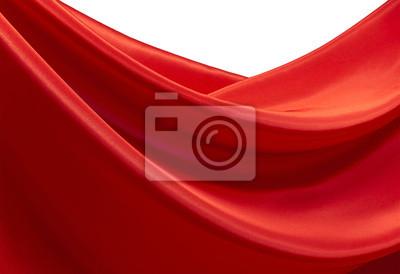Fale czerwone satynowe