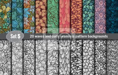 Naklejka Fale i loki bez szwu próbki pattern.Pattern uwzględniono użytkownik Illustrator, próbki wzór zawarty w pliku, dla wygodnego użytkowania.