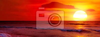 Naklejka Fantastic sunset over ocean