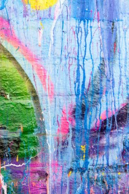 Naklejka Farba kapanie ściany graffiti