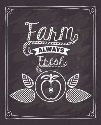 Naklejka farm fresh food design