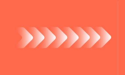 Naklejka Fast forward 3d shape