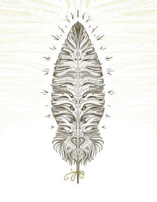 Naklejka Feather ornamental symbol