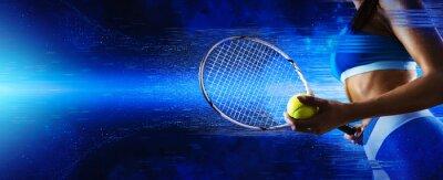 Naklejka Female tennis player. Sports banner