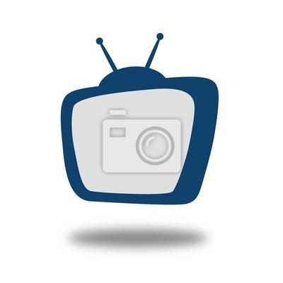 Naklejka Fernseher farbig