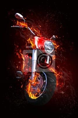 Fiery motocykl