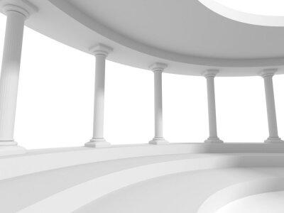 Naklejka filary kolumny projektowania architektury tła
