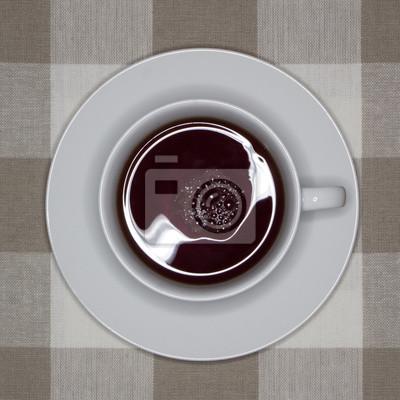 Naklejka Filiżanka czarnej herbaty