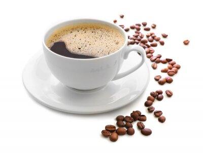 Naklejka Filiżanka kawy wyizolowanych na białym tle