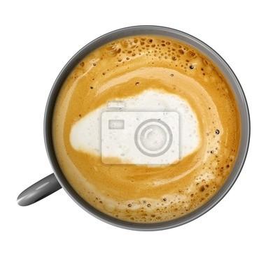 Naklejka Filiżanka kawy z kawy samodzielnie na białym tle