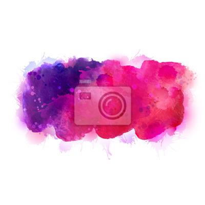 Fioletowe, fiołkowe, liliowe, purpurowe i różowe plamy akwareli. Jasny kolor elementu dla abstrakcyjnych artystycznych tła.