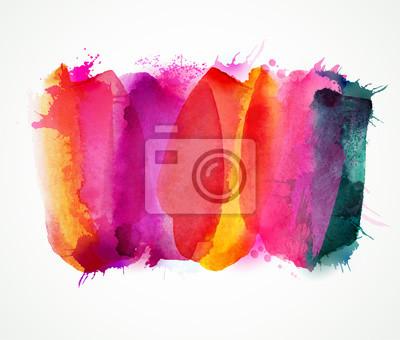 Fioletowe, liliowe, magenta i różowe plamy akwareli. Jasne kolory elementów abstrakcyjnych artystycznych tła.